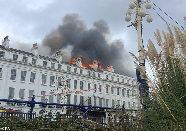 Guests are started to be evacuated from surrounding hotels as the fire continues to spread