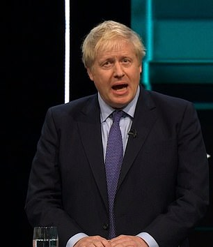 Mr Johnson insisted he is determined to 'get Brexit done', and warned that all Labour had to offer was 'dither and delay, deadlock and division' with more referendums