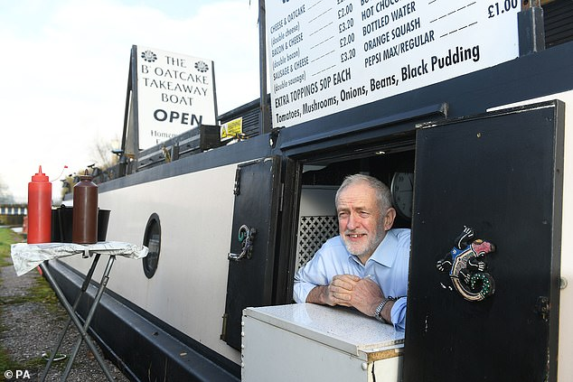 Mr Corbyn (pictured in Stoke-on-Trent today) will be first up for a grilling, while Mr Johnson is due to take to his feet around 8.30pm