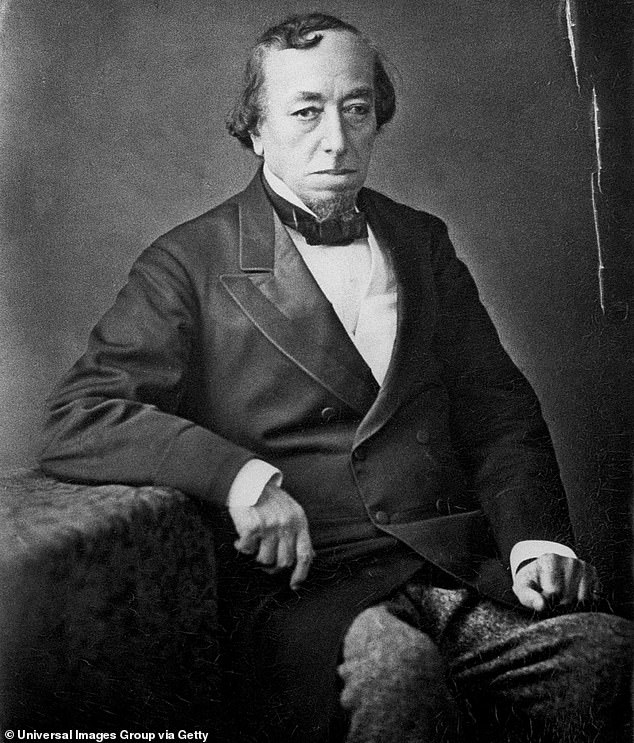 Pictured: Benjamin Disraeli, former leader of the Tory Party, photographed in July 1878