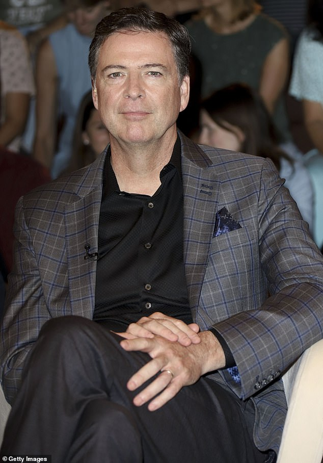 Leading man: James Comey was fired in 2017 by Donald Trump. The firing became a major subject of the inquiry by Special Counsel Robert Mueller; shown in 2018