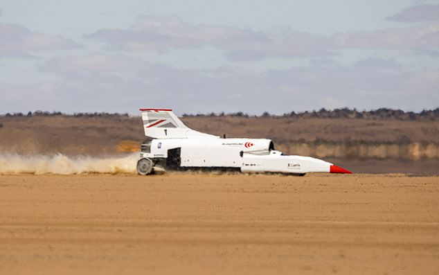 The British team behind Bloodhound are continuing towards their goal of breaking the world land speed record after the vehicle shot past 600 mph