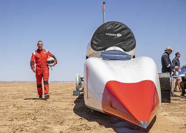 Former fight pilot turned driver Andy Green said they're in a 'great position' to set the new land speed record