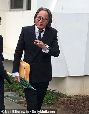 Hadid, who was in court wearing his trademark black suit and tie, has a $17m loan on the property, which he has personally guaranteed, said an attorney for First Credit Bank - who estimated that the site, with it's illegally built house on it, is now only worth about $8m
