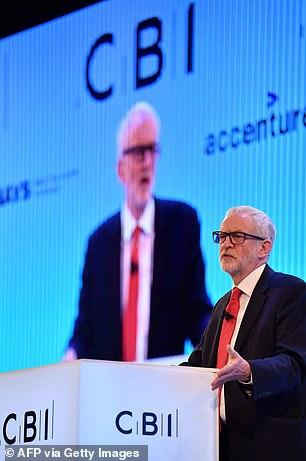 Mr Corbyn said the Prime Minister's deal will lead to 'damaging uncertainty' and 'it won't get Brexit done'