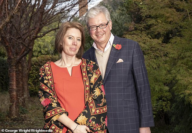 Charles Villiers with his new love Heidi Innes,a 42-year-old opera singer he met in 2017, at their home in Tyninghame East Lothian