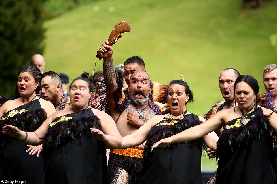 They are on an eight-day tour of New Zealand and the official welcome in Auckland marked the start of day two of the tour