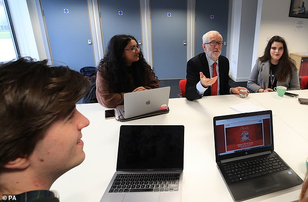 He yesterday met with students at Lancaster University to talk about the party's plans to deliver fast and free full fibre broadband across the country if they win the General Election