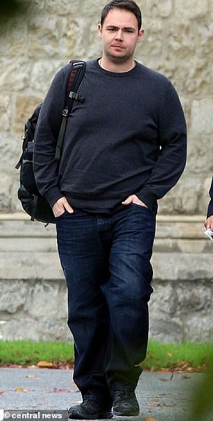 James Saunders (pictured outside Snaresbrook Crown Court) began a relationship with Ms Parsons