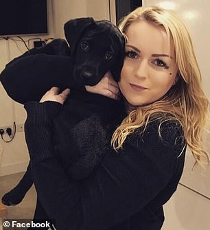 Emma-Louise-Crawley-Shorthouse is pictured with her pooch Luther