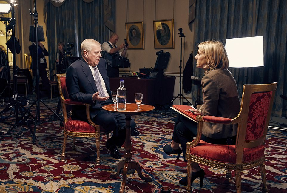 Prince Andrew (pictured during his interview with Emily Maitlis on the BBC's Newsnight) is facing a furious backlash over his relationship with Epstein