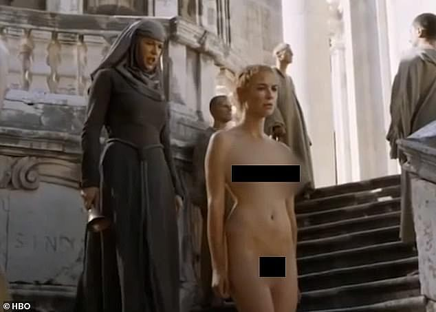 Divisive: Lena Headey, who plays divisive Cersei Lannister in Game Of Thrones said 'I've no problem with nudity' but admitted she hated the backlash that using a body double caused as she was pregnant at the time (picture: season five)