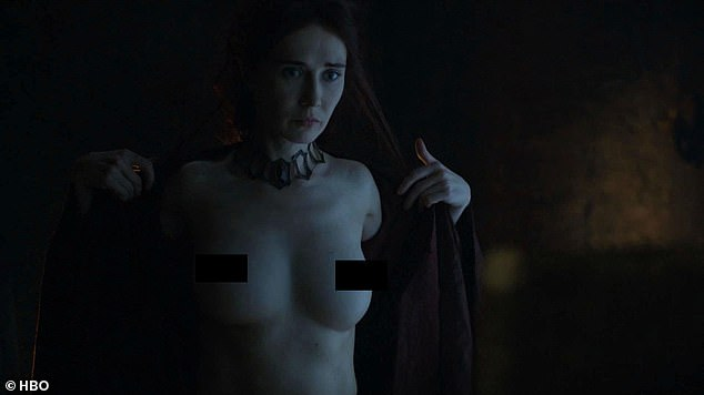 Supportive: Carice van Houten, who played red priestess Melisandre has said she wanted to 'normalise' nudity on screen and has no issue with it 'as long as it's functional'