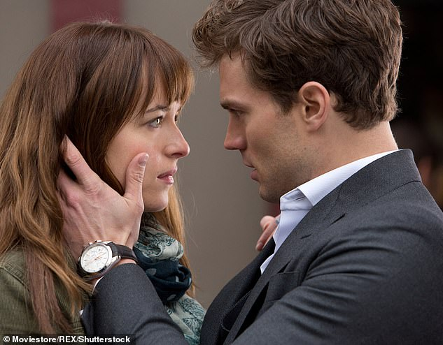 Over it: In May, Emilia also revealed she turned down a role as Anastasia Steele in Fifty Shades Of Grey because she was 'sick of talking about nudity' (Dakota Johnson pictured in the role)