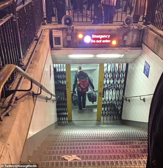 Oxford Circus station was evacuated this evening after a man fell in front of a train