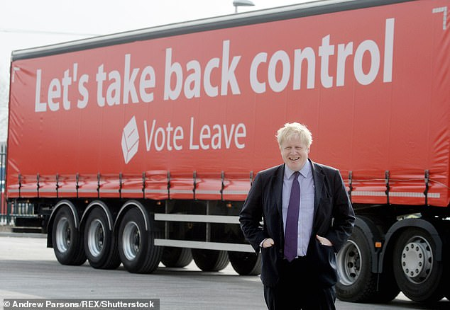 The phrase 'take back control' was a key tenet of the Vote Leave campaign in 2016 run by Dominic Cummings, now Mr Johnson's chief aide