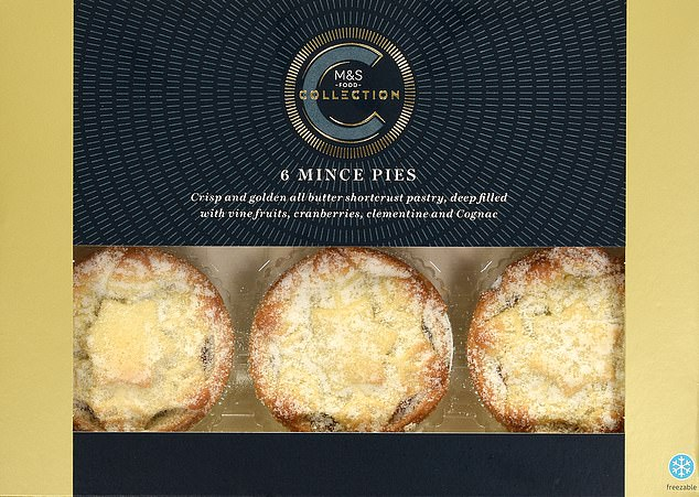 Experts at Which? have named the Marks & Spencer Collection Mince Pies, costing £2.50 for a pack of six - or 42p each - the best of this year's offerings