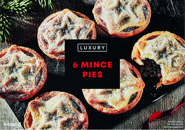Second place went to Iceland's Luxury Mince Pies at £1.89 for six ¿ 32p each ¿ with 73 per cent
