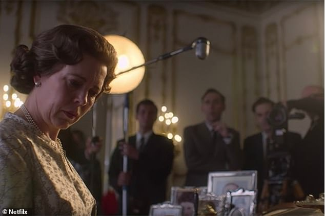 In the fourth episode of The Crown, the Queen (seen above) and her family take part in a fly-on-the-wall style documentary. It is Prince Philip's idea to boost their public image