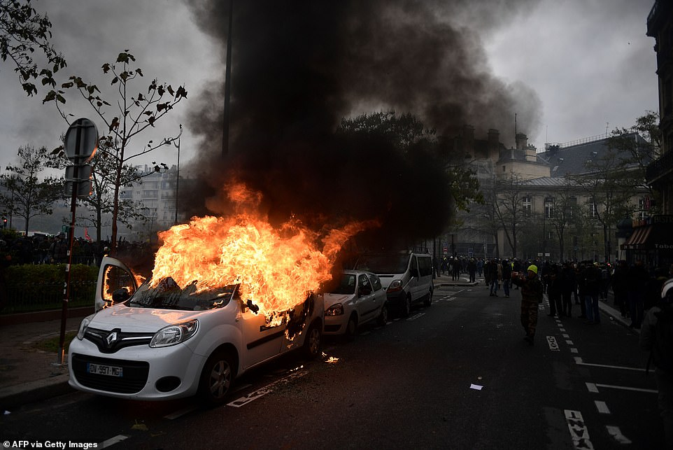 Numbers attending the protests and levels of violence have sharply diminished in recent months but the scenes remain violent