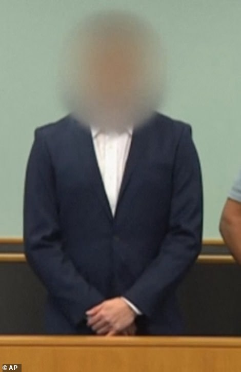 Murderer: The 27-year-old man, pictured earlier in the trial, will be sentenced in February