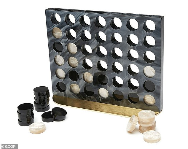 Totally reasonable: This$1,495 Edie Parker 'four in a row' set is just fancy marble version of Connect Four