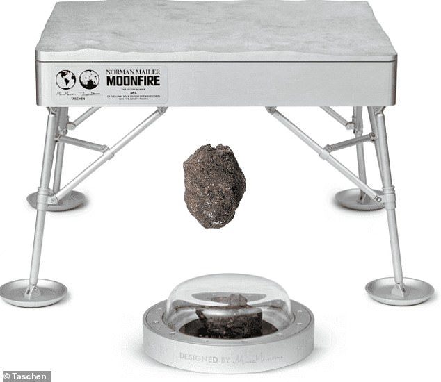 Charge it! This 'ridiculous but awesome' $275,000 limited-edition copy of Norman Mailer's MoonFire comes with a case inspired by the Apollo 11 LEM and a piece of lunar meteorite