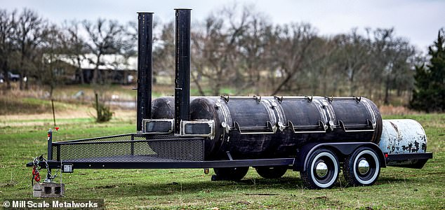 Surprise! We can just imagine Gwyneth pulling up to a friend's house on Christmas Day with this$33,000 Mill Scale smoker in tow