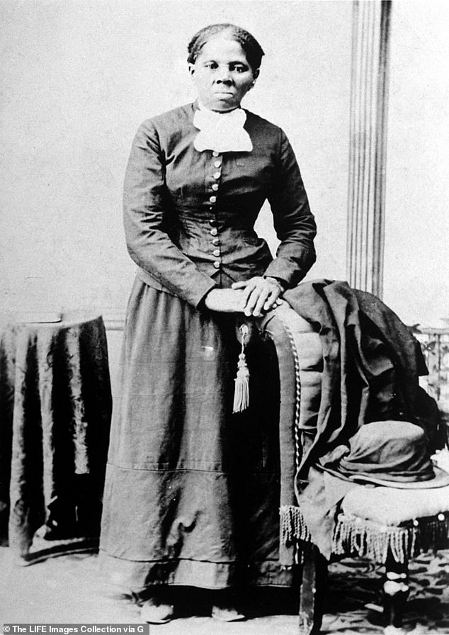 The real deal: Tubman - whose birth name was Araminta Ross - suffered at the expense of her slave masters as a child, even suffering a traumatic head injury as a result