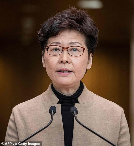 Hong Kong Chief Executive Carrie Lam warned protesters occupying a city centre university that surrender is the only option for a peaceful resolution to a three-day standoff in her first public comments about the crisis on Tuesday morning