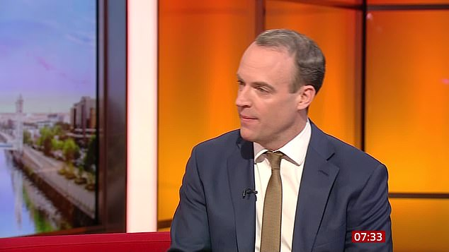 Foreign Secretary Dominic Raab insisted the party did not need to apologise for countering the 'lies' that were 'serially and systematically' put out by Labour and its allies on social media