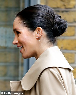 Diamonds: The Duchess debuted her sustainable lab-grown diamond earrings by Kimai during her first public appearance of 2019