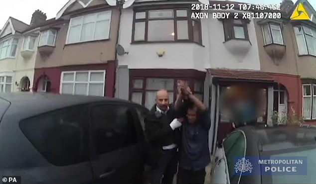 Bodycam footage shows the moment Met Police officers arrested Unmathallegadoo
