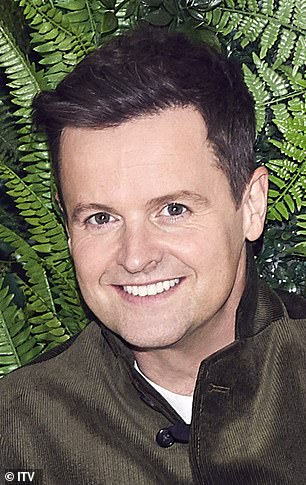 No sweat: Declan Donnelly took a swipe at Prince Andrew on Sunday's series debut episode of I'm A Celebrity as he mocked the beleaguered royal's claims he doesn't sweat