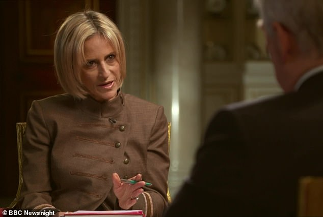 Show: The Duke of York answered questions from Emily Maitlis, 49, during the hour-long show