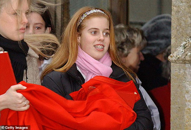 Daughter: The duke denied he slept with Mrs Giuffre on three separate occasions when questioned by Newsnight presenter Emily Maitlis, saying one encounter in 2001 did not happen as he had taken his daughter Princess Beatrice (pictured in 2001) to Pizza Express in Woking for a party, and they spent the rest of the day together