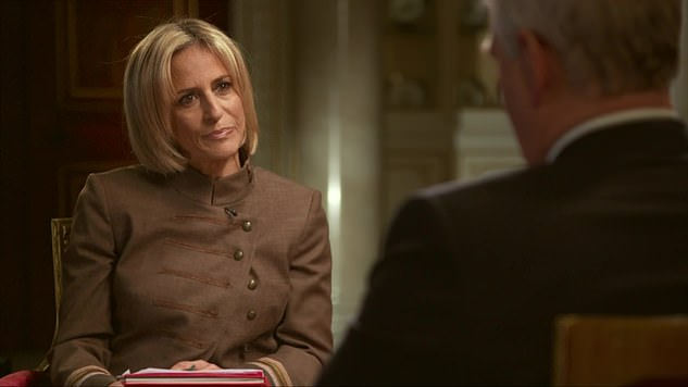 Guest of honour: Mrs Maitlis (pictured) asked Andrew about on occasion where he was invited as the 'guest of honour' to one of Epstein's parties