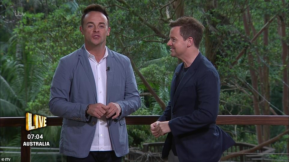 Hilarious:The presenter, 43, joked that he'd taken a 'year off' as presenting partner Declan Donnelly gushed that they were 'all back' in Australia for the most dramatic launch show yet