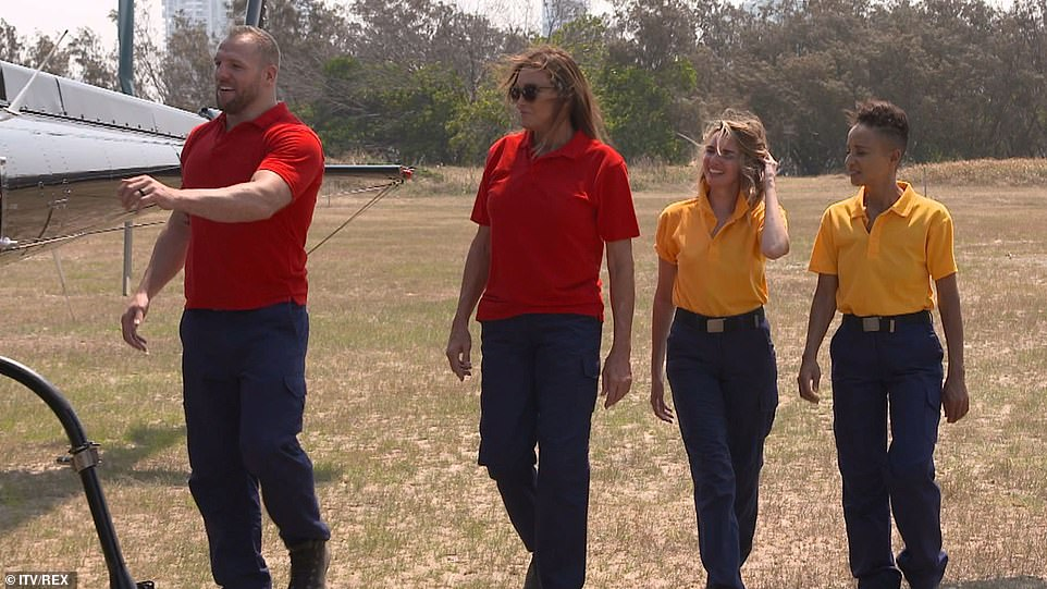 Middle of nowhere:Meanwhile, Adele and Nadine and Caitlyn and James were taken to a remote spot in the jungle and learned that two of them would have to complete a skydive