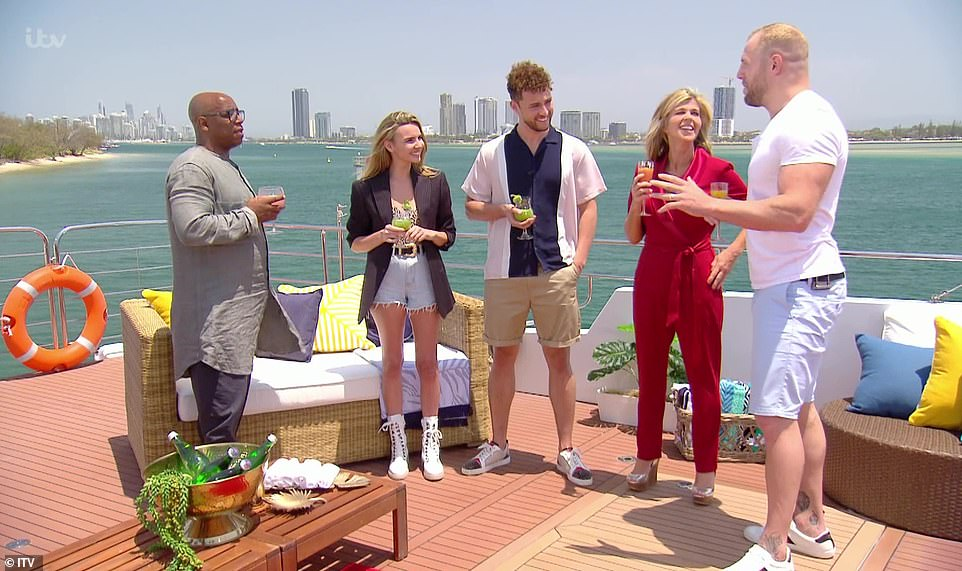 Here they are!Ian Wright, Kate Garraway, James Haskell, Nadine Coyle and Myles Stephenson met for the first time on a luxury yacht, with Girls Aloud singer Nadine quickly pleading with producers that she didn't want to do a skydive