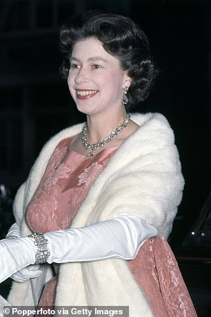 Queen Elizabeth II attending the ballet at the Festival Hall in London on 1st June 1964