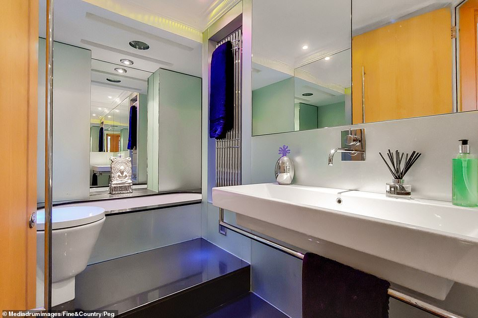 The house, in Camberwell, south London, boasts two modern bathrooms and four bedrooms, which can easily be converted to five