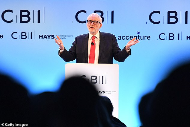 Jeremy Corbyn was grilled over his personal role in tackling Labour's anti-Semitism crisis at the CBI conference in London today.