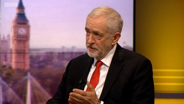 Asked on the BBC's Andrew Marr Show if the policy was in the manifesto, Mr Corbyn said: 'There will be a great deal of movement. You will know on Thursday'
