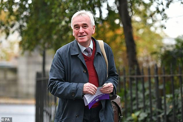 Shadow Chancellor John McDonnell has also arrived for the meeting where Labour's front bench is said to be split over freedom of movement