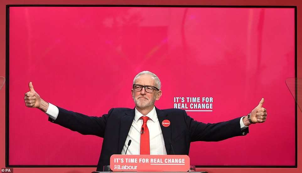 Mr Corbyn compared himself to post-war US president Franklin Roosevelt - saying he is ready to be attacked by the rich and powerful to bring about 'real change'