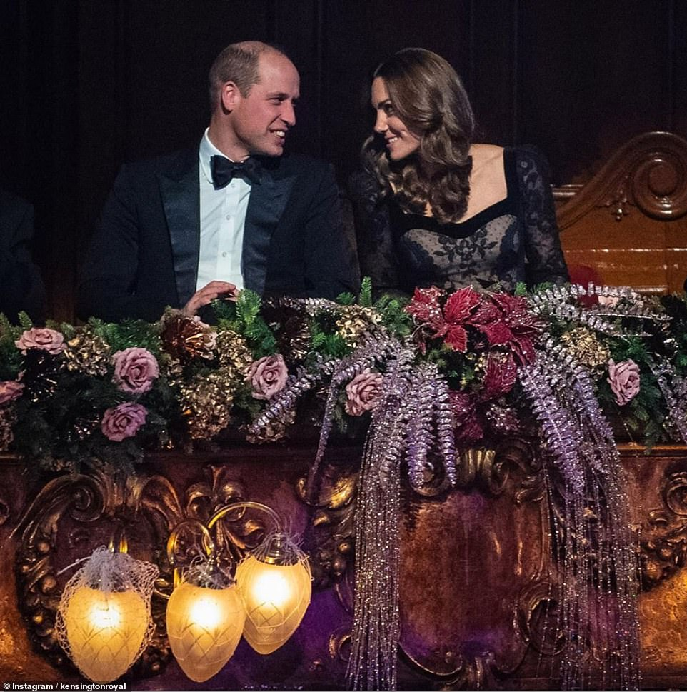 This sweet photo of the Duke and Duchess of Cambridge on their 'date night' at the Royal Variety Performance was shared to the Kensington Royal Instagram account