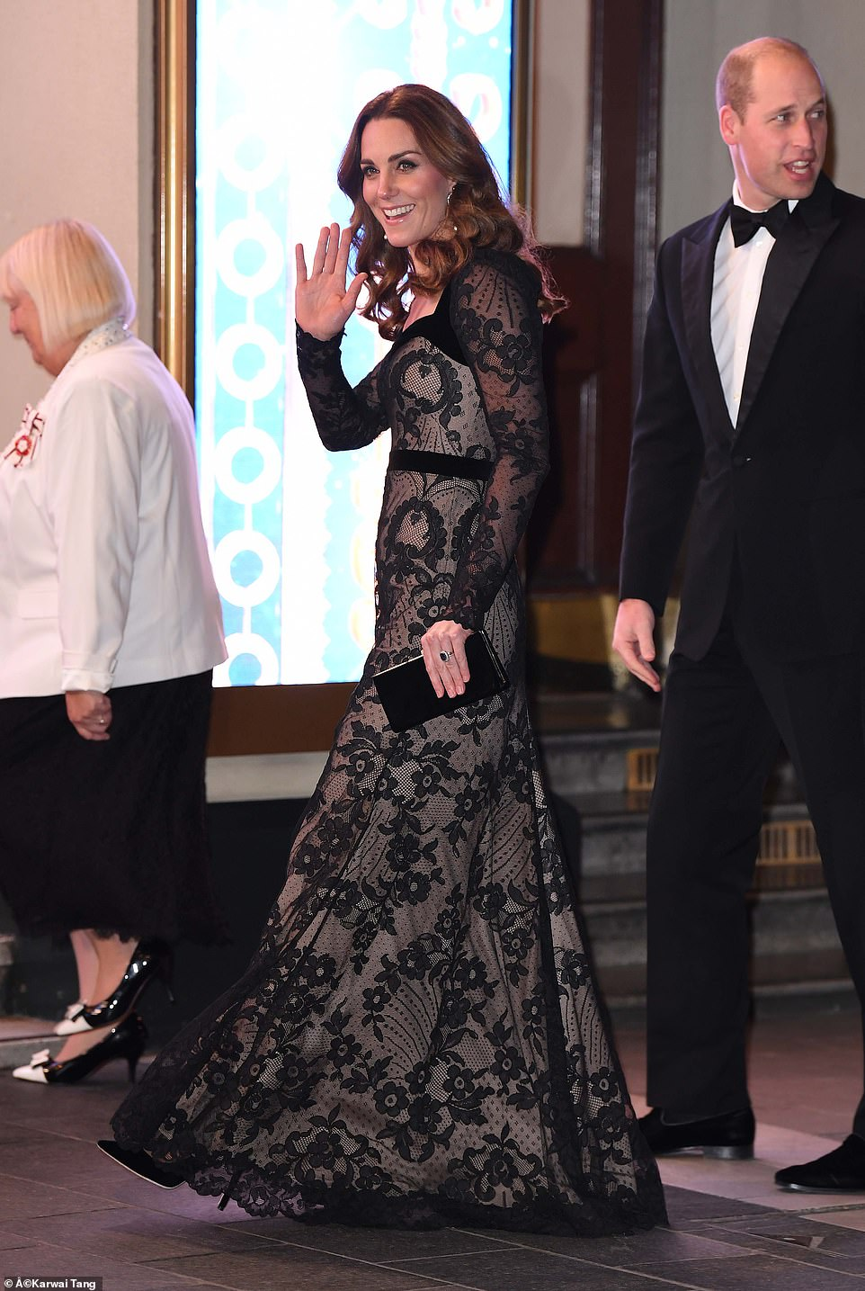 The royal couple greeted a number of performers as well as executives from the Royal Variety Charity and ITV, both before and after the show
