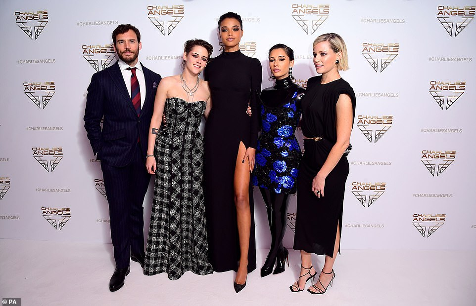 Plot: In Elizabeth's vision, the Angels have been ratched up into an international organisation with multiple teams - guided by multiple Bosleys - all working for the mysterious Charles Townsend and his security and investigative agency (pictured together with Sam Claflin)