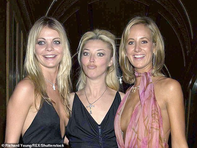 Lady Victoria (right), pictured with Jemma Kidd and Tamara Beckwith, says she may have been too old for Epstein